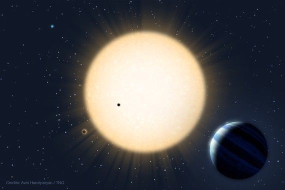 Artist's Impression of HD 219134 planetary system, Avet Harutyunyan (FGG-TNG) 2015